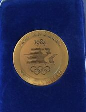 1984 Olympics Olympic Olympiad Press Medallion Coin Case Los Angeles Mint