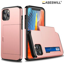 For iPhone 12 mini 11 Pro X XS Max XR Shockproof Card Slot Wallet Case Cover