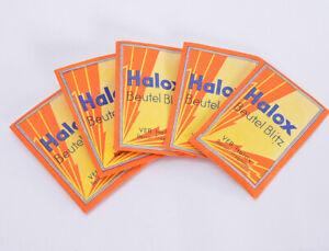 5x HALOX Beutel Blitz  ⭐ VEB HALOX ⭐ in OVP ⭐⭐⭐  (3465)