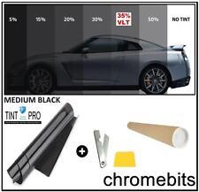 PRO ANTI-SCRATCH CAR WINDOW TINT FILM TINTING MEDIUM BLACK SMOKE 35% 76cm x 3M