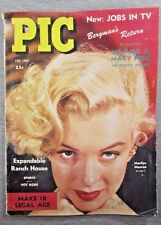 "Vintage ""PIC"" Magazine Feburary 1952, MARILYN MONROE on Cover!"