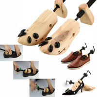 Pair of Adjustable Wooden Shoe Stretcher 2 Way Expander US Mens Women Size 6-13