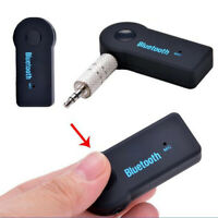 Wireless Bluetooth 3.5mm AUX Audio Stereo Music Home Car Mic Receiver Adapter df