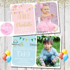 Personalised 1st BIRTHDAY Invitation Invited Party Girl Boy Birthday Magnet