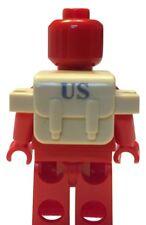 Mochila Ejército De EE. UU. (tan) Para Minifiguras Lego