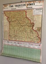 1920's Map of Missouri 1920 Census Figures, The Trenton Times, city populations