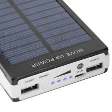 50000mAh Dual USB Solar Battery Charger PortablePower Bank Black For Cell Phone