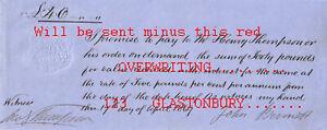 M62 ORIG. 1869 Prom Note, BENNETT, Lincs.