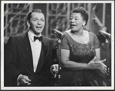 Frank Sinatra Ella Fitzgerald 1950s Original Stamped ABC-TV Promo Photo