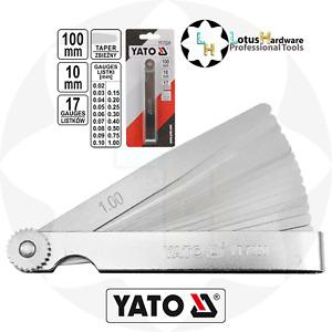 Feeler Gauge Metric 17 Leafs 0.02-1mm L=100mm Taper Yato YT-7220