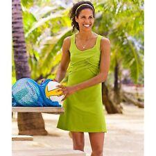 Athleta Women's Lime Green Draped Front Dress Size M