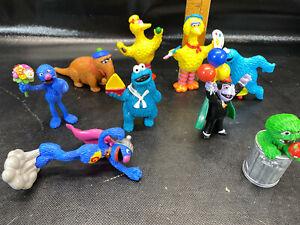 Sesame Street PVC 9 Figures Lot Cookie Monster The Count Grover Big Bird
