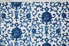 NIP Ralph Lauren Porcelain QUEEN SHEET SET Rosette Blue 4 pc ORIGINAL PATTERN!
