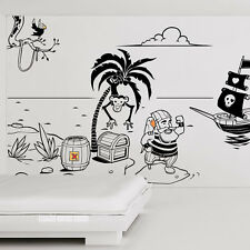 PIRATES CHILDRENS WALL STICKER MURAL ART DECAL QUOTES CM1