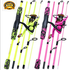 Sougayilang Carbon Fiber Spinning Fishing Rod and Reel Combo Hand Pole Spinning