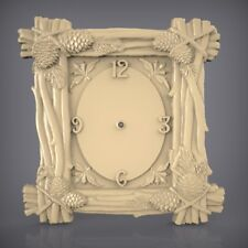 (913) STL Model Clock for CNC Router 3D Printer  Artcam Aspire Bas Relief