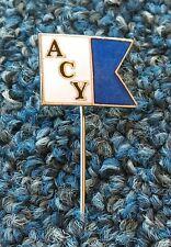 ACY - ADRIATIC CLUB YUGOSLACIA (1960s) / yahting, départ / old & rare ENAMEL pin