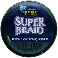 New Platypus Super-Braid Fishing Line - 20lb 300yds