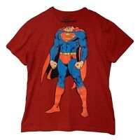 Red Superman T Shirt DC Original