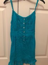 Ladies Size 14 Turquoise Strap Top From New Look