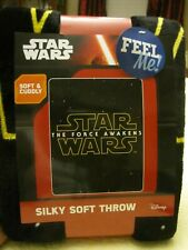 NEW Disney Star Wars Silky Soft Throw 40x50 Force Awakening