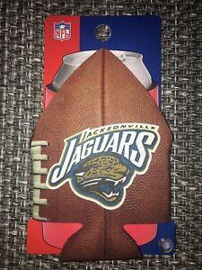 JACKSONVILLE JAGUARS NFL FOOTBALL CAN COOLER COLLAPSIBLE INSULATED BOTTLE HOLDER