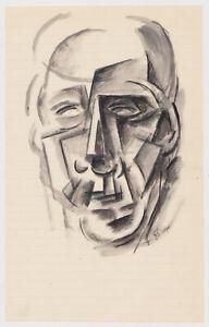 Nice Russian Modernist Cubist School painting  avant garde 1933