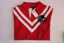 NWT AUTHENTIC Ralph Lauren Custom Fit Polo Cotton Shirt Red Color, L