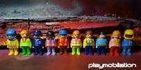 PLAYMOBIL 123 GEOBRA VINTAGE BUNDLE OF 10 FIGURES BOYS GIRLS (B)
