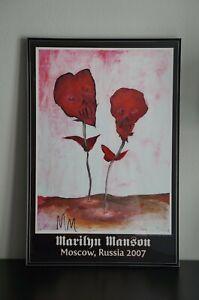 Marilyn Manson autographed Les Fleurs du Mal poster