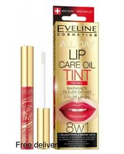 Eveline All Day Lip Care Oil Tint Hot Red Color Lip Oil 8in1 7ml