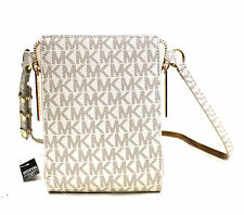 NWT WOMEN'S MICHAEL KORS MK LOGO FANNY PACK WHITE STY#552500 SZ:S-XL $98