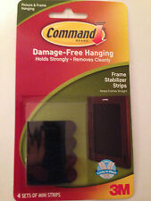 COMMAND 17208 Picture/Canvas Stabilizer Strips Pk4 Stops Frames Moving/Sliding.