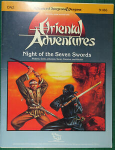 TSR - AD&D - Oriental Adventures - OA2 Night of the Seven Swords - Module 9186