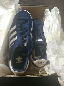 BRAND NEW IN BOX ADIDAS WOMEN CAMPUS J SHOES SUEDE DB1349 BLUE WHITE SIZE4