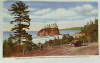 Vintage Collectible Color Post Card ABBEY ISLAND Washington Armed Forces 1940's?