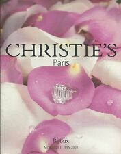 CHRISTIE'S PARIS JEWELS Rothschild Coll Rybar Daigre Cufflinks Coll Catalog 2003