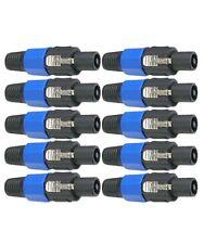 10x Speakon Male Plug Speaker 4 Pole Conductor Audio Cable Connector