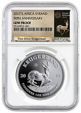 2017 South Africa 1 oz. Silver Krugerrand NGC GEM Proof (Excl Label) SKU47955