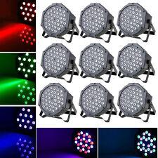 9PCS 36W RGB 36x LED Par Lighting Stage Light DMX DJ Disco Party Strobe Effect