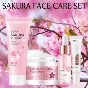 4Pc Face Skin Care Set Eye Cream & Face Serum, Facial Cleanser Beauty Makeup Set