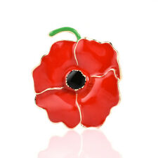 Hot Enamel Red Poppy Flower Brooch Pin Broach Jewelry Remembrance WomenS Gifts