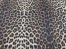 2 Mtr Polyester Leopard Print 4 way Lycra Stretch Spandex Fabric Swimwear Dress