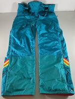 Vintage Nevica Mens Ski Pants Trousers Salopettes Blue Retro Entrant Size UK 44M
