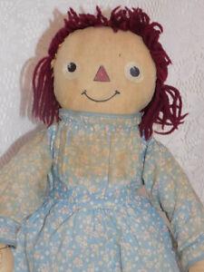 RARE Cloth Raggedy Ann Doll Exposition Doll & Toy Company 1934