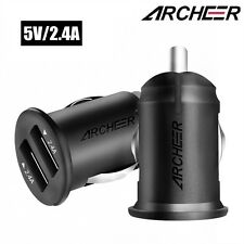 Archeer 4.8A Mini Portale Car Charger Dual USB Port Adapter For iPhone Samsung