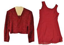 Karin Stevens 2 Piece Lined Women's red wine Dress Blouse Top Size 16