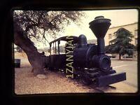 IQ16 35MM ORIGINAL SLIDE Black Locomotive Trolley on Street 1975