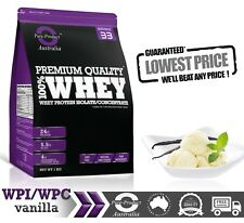 1KG  -  WHEY PROTEIN ISOLATE / CONCENTRATE - VANILLA -  WPI WPC  POWDER