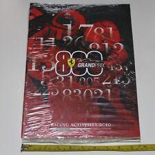 Libro Pubblicazione Ferrari Racing Activities 2010 Grand Prix 300 pagine Sigilla